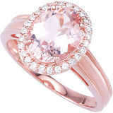 Trendy Morganite Genuine Gemstone Ring at BitCoin Gems