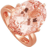 Exquisite Morganite Genuine Gemstone Ring at BitCoin Gems