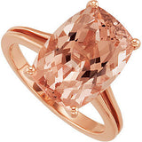 Gorgeous Morganite Genuine Gemstone Ring at BitCoin Gems