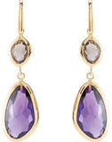 Attractive Genuine Gemstone Multi Gem Earrings at BitCoin Gems