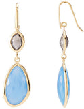 Dazzling Genuine Gemstone Multi Gem Earrings at BitCoin Gems