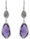 Artsy Genuine Gemstone Multi Gem Earrings at BitCoin Gems