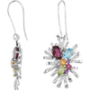 Amazing Genuine Gemstone Multi Earrings at BitCoin Gems