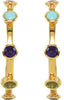Stunning Genuine Gemstone Multi Earrings at BitCoin Gems