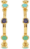 Fabulous Genuine Gemstone Multi Earrings at BitCoin Gems
