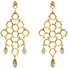 Dangling Genuine Gemstone Multi Earrings at BitCoin Gems