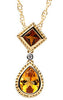 Fetching Genuine Gemstone Citrine Pendant for SALE at BitCoin Gems