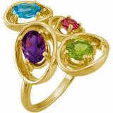 Eye Catching Multi Genuine Gemstone Ring at BitCoin Gems