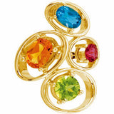 Magnificent Multi Genuine Gemstone Ring at BitCoin Gems