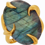 Gorgeous Multi Genuine Gemstone Ring at BitCoin Gems