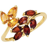 Elegant Multi Genuine Gemstone Ring at BitCoin Gems