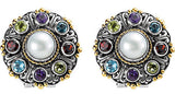 Outstanding Genuine Gemstone Multi Earrings at BitCoin Gems