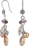 Attractive Genuine Gemstone Multi Earrings at BitCoin Gems