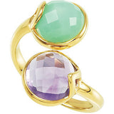 Fashionable Multi Genuine Gemstone Ring at BitCoin Gems