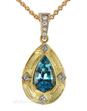 Pretty Genuine Gemstone Aquamarine Pendant for SALE at BitCoin Gems