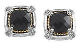 Ornate Genuine Gemstone Onyx Earrings at BitCoin Gems