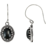 Smoldering Genuine Gemstone Onyx Earrings at BitCoin Gems