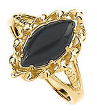 Attractive Onyx Genuine Gemstone Ring at BitCoin Gems