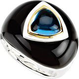 Stylish Onyx Genuine Gemstone Ring at BitCoin Gems