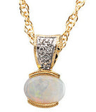Regal Genuine Gemstone Opal Pendant for SALE at BitCoin Gems