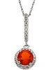 Brilliant Genuine Gemstone Fire Opal Pendant for SALE at BitCoin Gems
