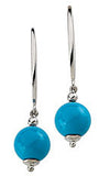 Uncommon Genuine Gemstone Turquoise Earrings at BitCoin Gems
