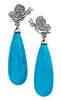Royal Genuine Gemstone Turquoise Earrings at BitCoin Gems