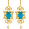 Stunning Genuine Gemstone Turquoise Earrings at BitCoin Gems