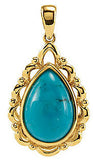 Amazing Genuine Gemstone Turquoise Pendant for SALE at BitCoin Gems
