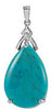 Stylish Genuine Gemstone Turquoise Pendant for SALE at BitCoin Gems