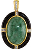 Magnificent Genuine Gemstone Multi Pendant With Jade & Onyx for SALE at BitCoin Gems