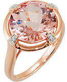 Lovely Morganite Genuine Gemstone Ring at BitCoin Gems