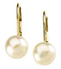 Alluring Genuine Gemstone Pearl Earrings at BitCoin Gems