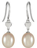 Cute Genuine Gemstone Pearl Earrings at BitCoin Gems
