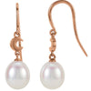 Dreamy Genuine Gemstone Pearl Earrings at BitCoin Gems