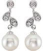 Contemporary Genuine Gemstone Pearl Earrings at BitCoin Gems