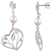 Delicate Genuine Gemstone Pearl Earrings at BitCoin Gems
