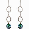 Dangling Genuine Gemstone Pearl Earrings at BitCoin Gems