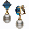 Beautiful Genuine Gemstone Pearl Earrings at BitCoin Gems