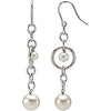 Great Genuine Gemstone Pearl Earrings at BitCoin Gems