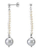 Gorgeous Genuine Gemstone Pearl Earrings at BitCoin Gems
