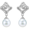 Modern Genuine Gemstone Pearl Earrings at BitCoin Gems