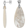 Magnificent Genuine Gemstone Pearl Earrings at BitCoin Gems