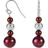 Festive Genuine Gemstone Pearl Earrings at BitCoin Gems