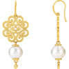 Exquisite Genuine Gemstone Pearl Earrings at BitCoin Gems