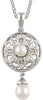 Delicate Genuine Gemstone Pearl Pendant for SALE at BitCoin Gems
