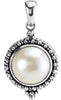Exquisite Genuine Gemstone Pearl Pendant for SALE at BitCoin Gems