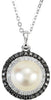 Stunning Genuine Gemstone Pearl Pendant for SALE at BitCoin Gems