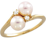 Magnificent Pearl Genuine Gemstone Ring at BitCoin Gems