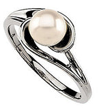 Awesome Pearl Genuine Gemstone Ring at BitCoin Gems